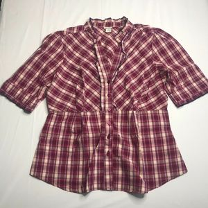 Anthropologie Odille Womens Button Down Size 14